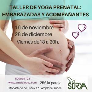 TALLER DE YOGA PRENATALPARA EMBARAZADAS Y ACOMPAÑANTESEscribe un mensaje (1)